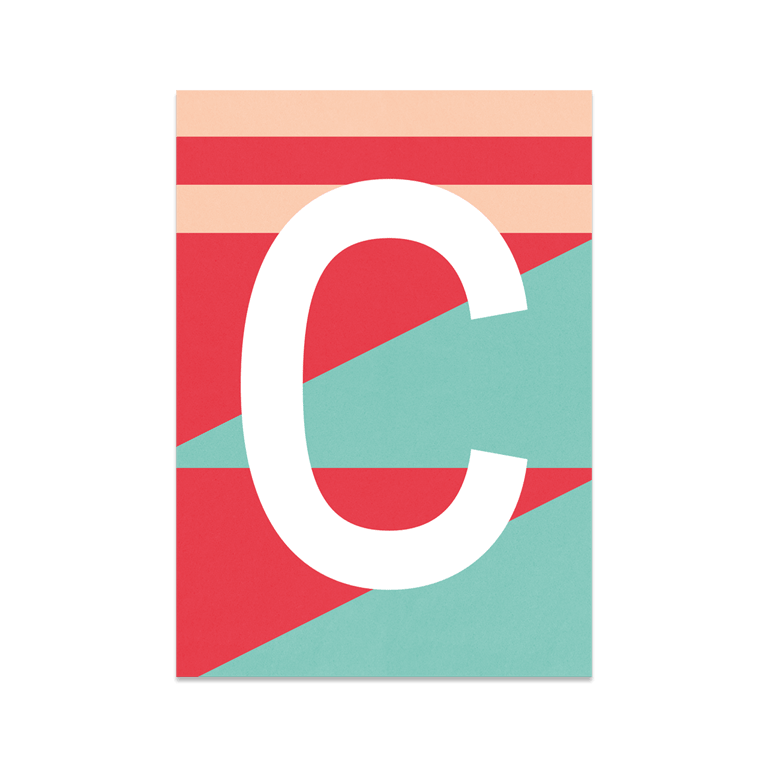 "Bunte ABC Karte ""C"""