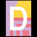 "Bunte ABC Karte ""D"""