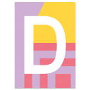 "Colourful ABC Card ""D"""
