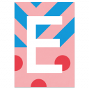 "Colourful ABC Card ""E"""