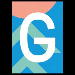 "Bunte ABC Karte ""G"""