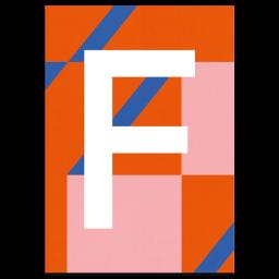 "Bunte ABC Karte ""F"""