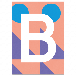 "Colourful ABC Card ""B"""