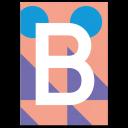 "Bunte ABC Karte ""B"""