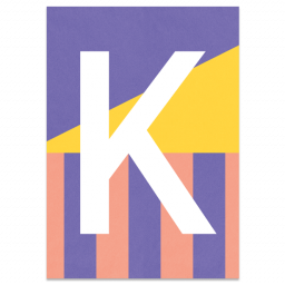 "Colourful ABC Card ""K"""
