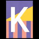 """Colourful ABC Card """"K"""""""
