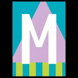 "Bunte ABC Karte ""M"""