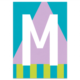 "Colourful ABC Card ""M"""