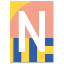 "Bunte ABC Karte ""N"""