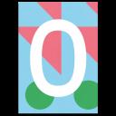 """Colourful ABC Card """"O"""""""