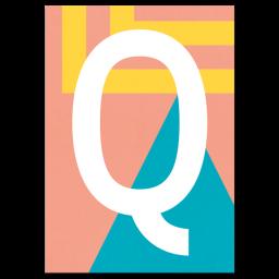 "Bunte ABC Karte ""Q"""