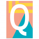 "Colourful ABC Card ""Q"""
