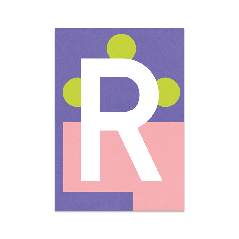"Bunte ABC Karte ""R"""