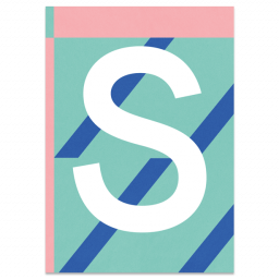 "Colourful ABC Card ""S"""