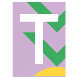 "Colourful ABC Card ""T"""