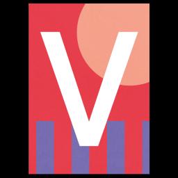 "Bunte ABC Karte ""V"""