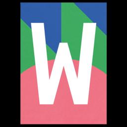 "Bunte ABC Karte ""W"""