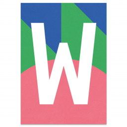 "Colourful ABC Card ""W"""