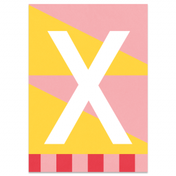 "Colourful ABC Card ""X"""