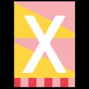 "Bunte ABC Karte ""X"""