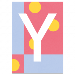 "Colourful ABC Card ""Y"""