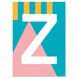 "Bunte ABC Karte ""Z"""