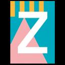 """Colourful ABC Card """"Z"""""""