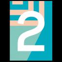 "Bunte Karte Zahl ""2"""