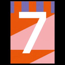 "Bunte Karte Zahl ""7"""