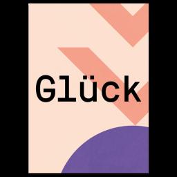 "Grußkarte ""Glück"""