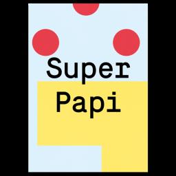 "Grußkarte ""Super Papi"""