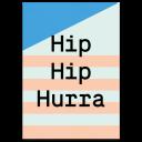 """Greeting Card """"Hip Hip Hurra"""""""