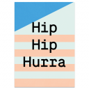 "Grußkarte ""Hip Hip Hurra"""