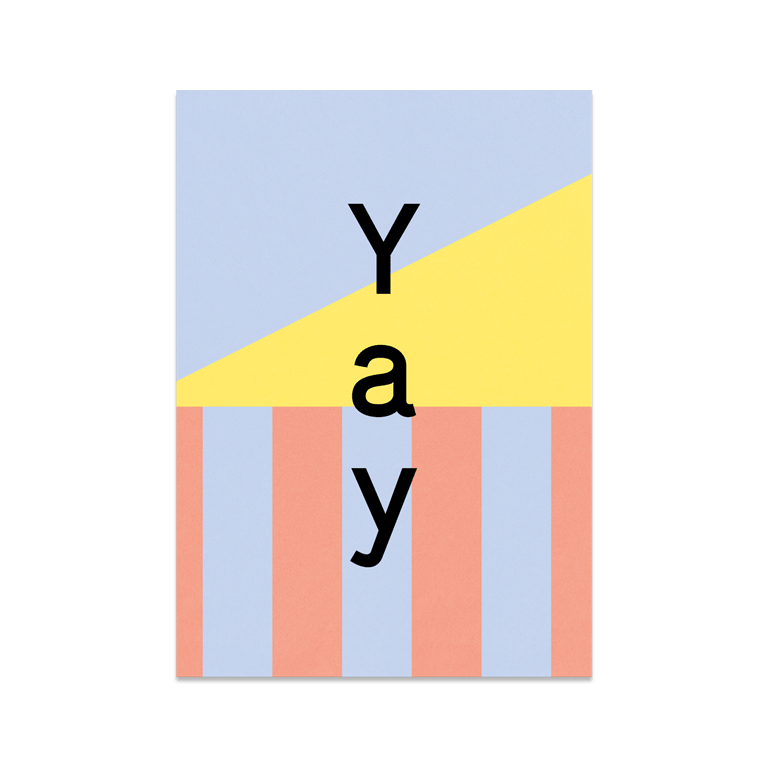 """Greeting Card """"Yay"""""""