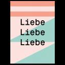 """Grußkarte """"Liebe Liebe Liebe"""""""