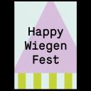 "Grußkarte ""Happy Wiegenfest"""