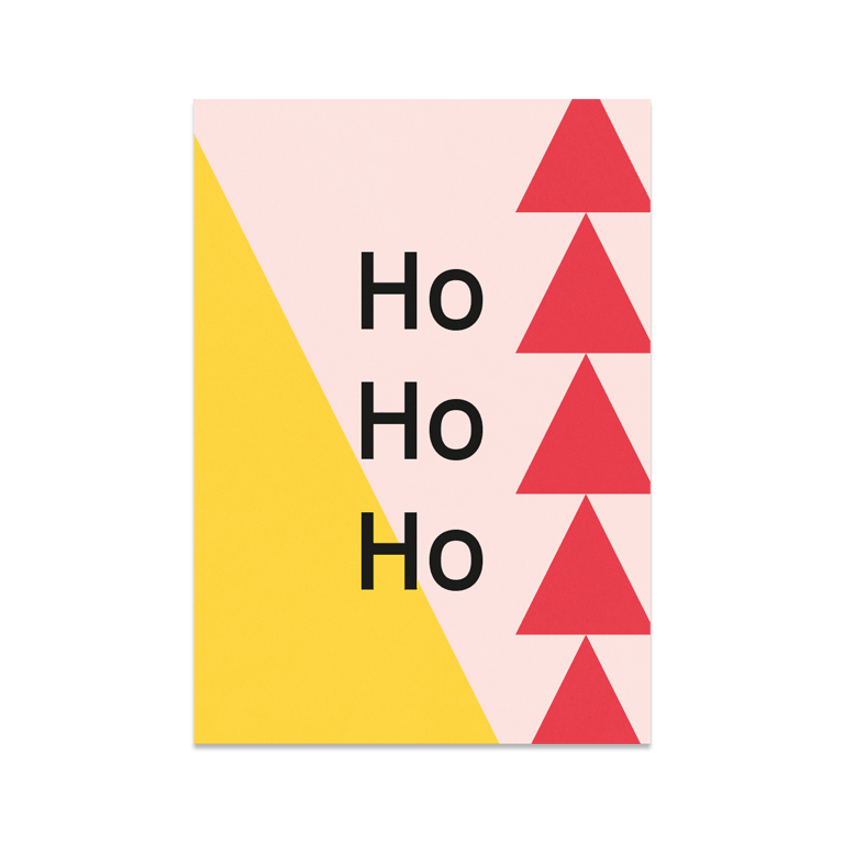 "Greeting Card ""Ho Ho Ho"""