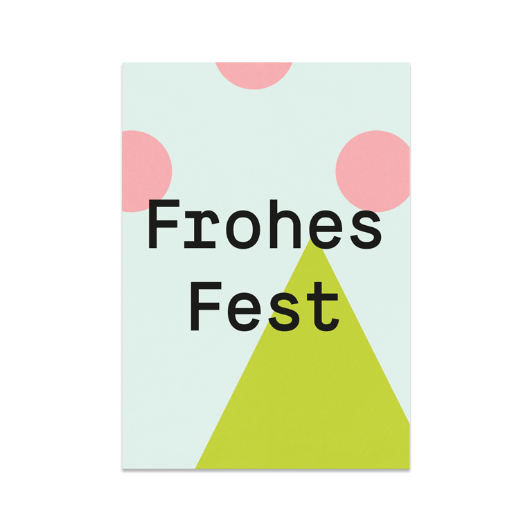 "Grußkarte ""Frohes Fest"""