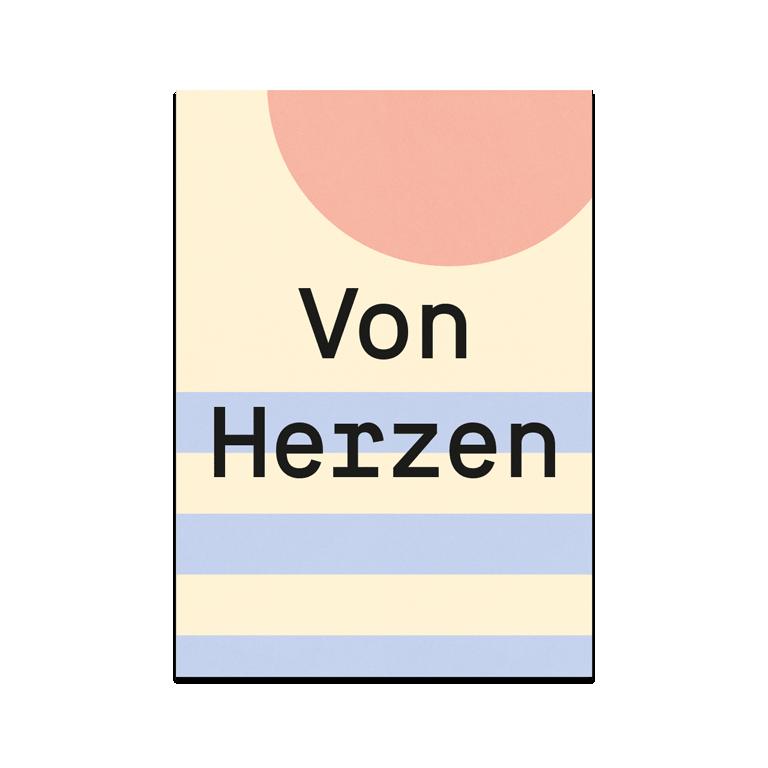 """Grusskarte """"Von Herzen"""""""
