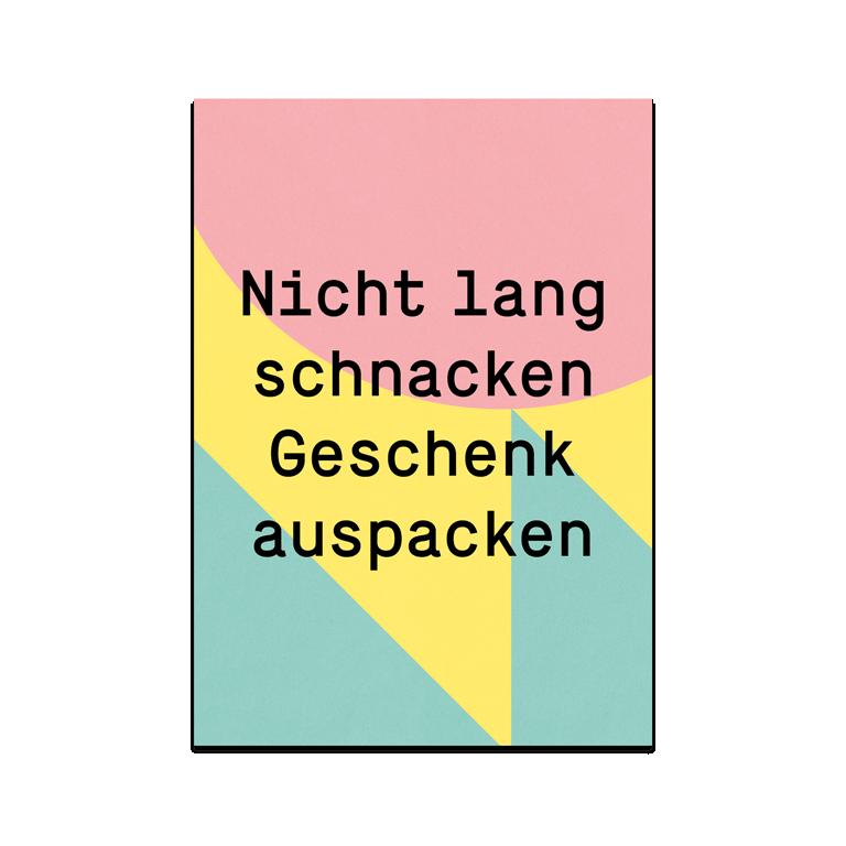 "Greeting Card ""Unpack Gift"""