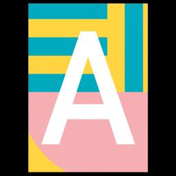 """Design Alphabet Postkarte """"A"""""""