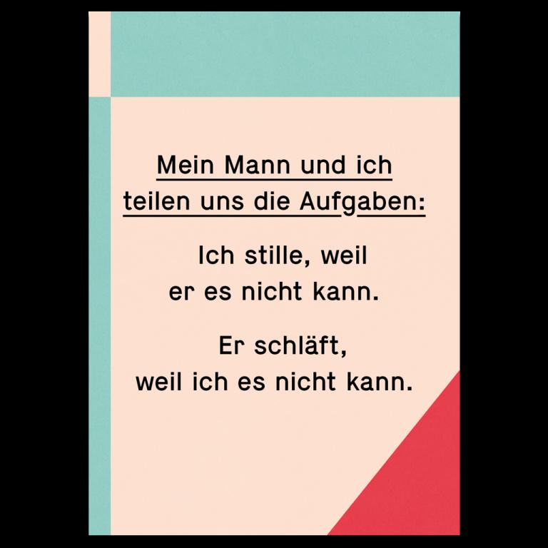 """Grußkarte """"Aufgabenteilung"""""""