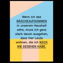 """Grußkarte """"Wäscheaufkommen"""""""