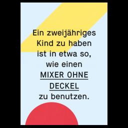 """Grußkarte """"Mixer"""""""