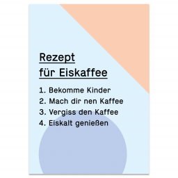 "Grußkarte ""Eiskaffee"""