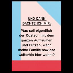 """Grußkarte """"Aufräumquatsch"""""""