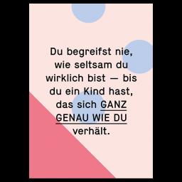"""Spruch Postkarte """"Seltsam"""""""