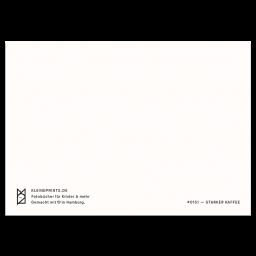 "Spruch Postkarte ""Starker Kaffee"""
